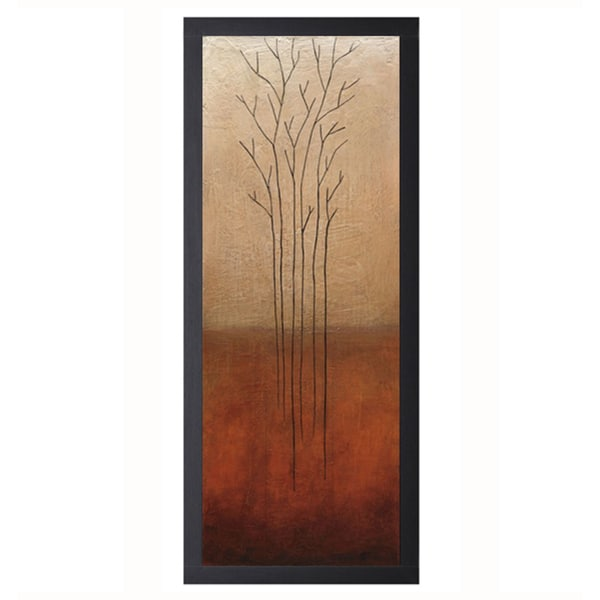 Eve-Branch Rouge l 16 x 40 Framed Art Print