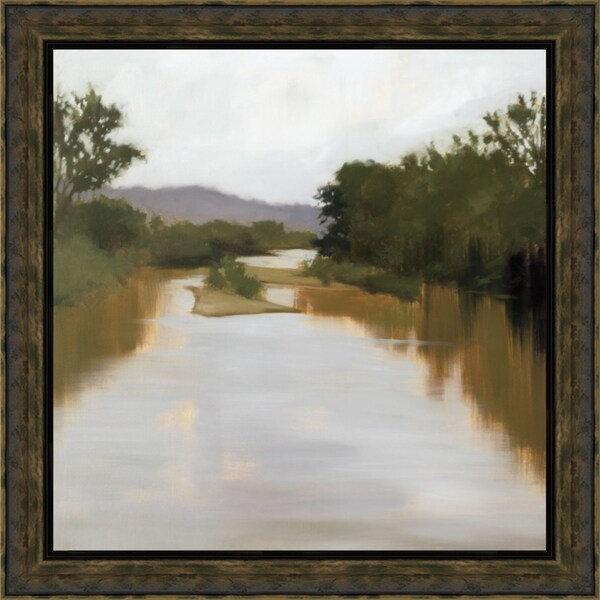 Megan Lightell-River Journey 40 x 40 Framed Art Print