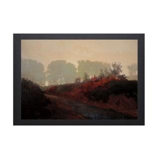 Marc Bohne-Red Hedge 40 x 28 Framed Art Print