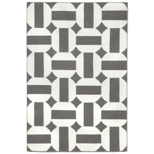 Stripe In Circle Outdoor Rug (8'3 x 11'6)