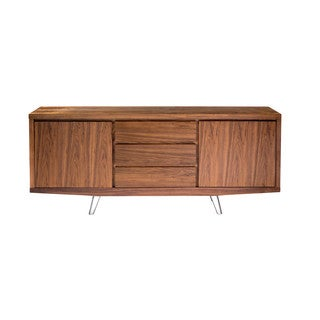 Aurelle Home Eric Sideboard Walnut