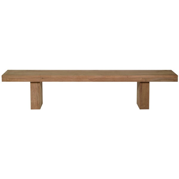 Aurelle Home Double Teak Small Bench 15601420
