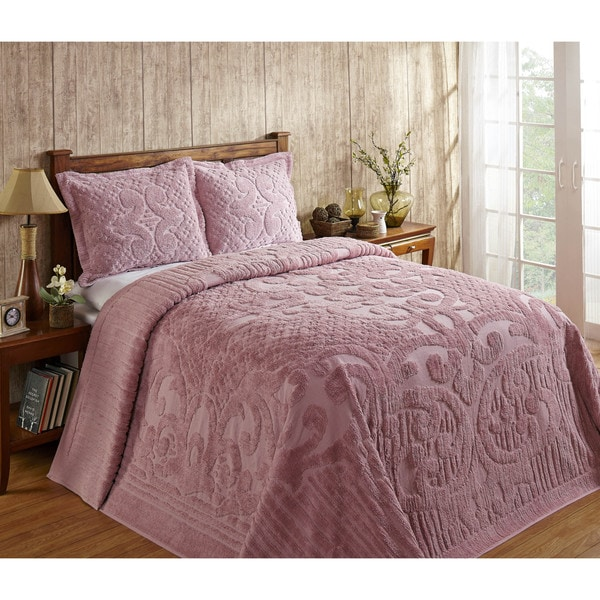 Ashton 100-percent Cotton Chenille Super Soft and Plush Bedspread (Shams Sold Separately)
