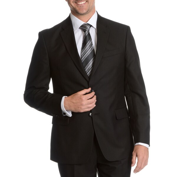 Tommy Hilfiger Men's Black Trim Fit Suit Separate Two Button Blazer