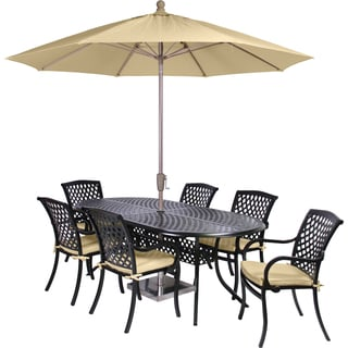 MIYU Furniture Princeton Collection 9-piece Dining Set