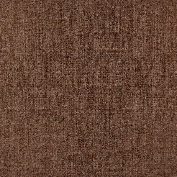 G874 Brown Linen/ Denim Look Faux Leather Upholstery Polyurethane (By The Yard)