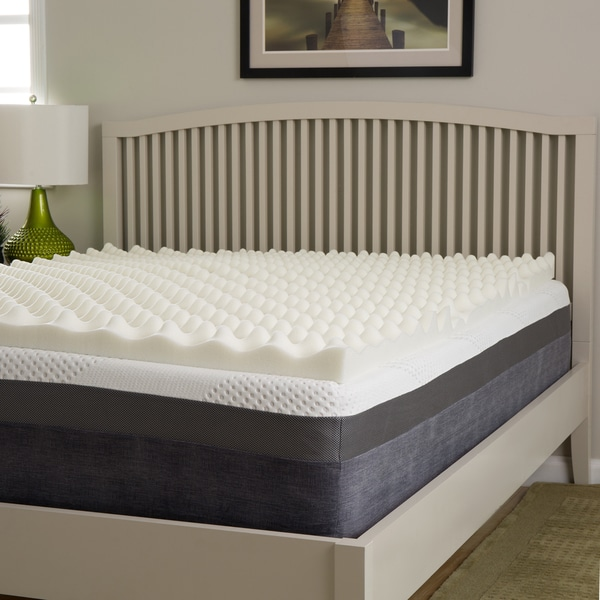 Slumber Perfect Big Bump 3-inch Convoluted Memory Foam Topper