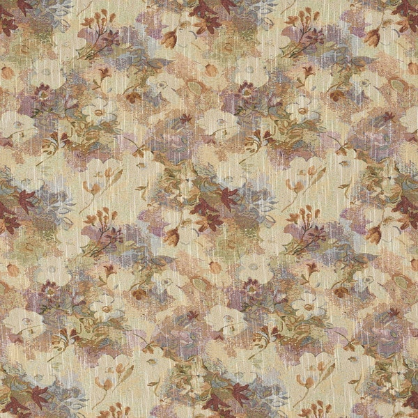 J314 Pink Blue and Green Pastel Floral Tapestry Upholstery Fabric (By The Yard)