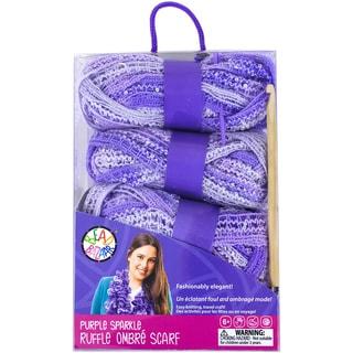 Sparkle Ruffle Scarf Kit Purple