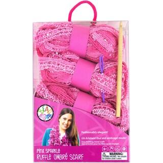 Sparkle Ruffle Scarf Kit Pink