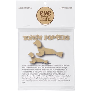 EyeConnect Chipboard Totem Poppet Seal, 2.7inX3in & 4.5inX2.5in