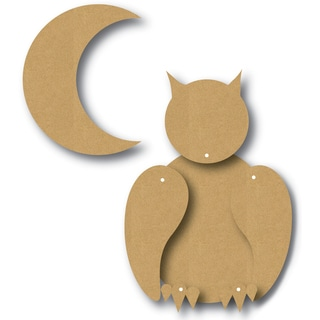 EyeConnect Chipboard Totem Poppet Owl, 4inX4in