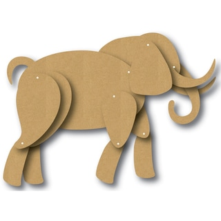 EyeConnect Chipboard Totem Poppet Elephant, 5inX6in