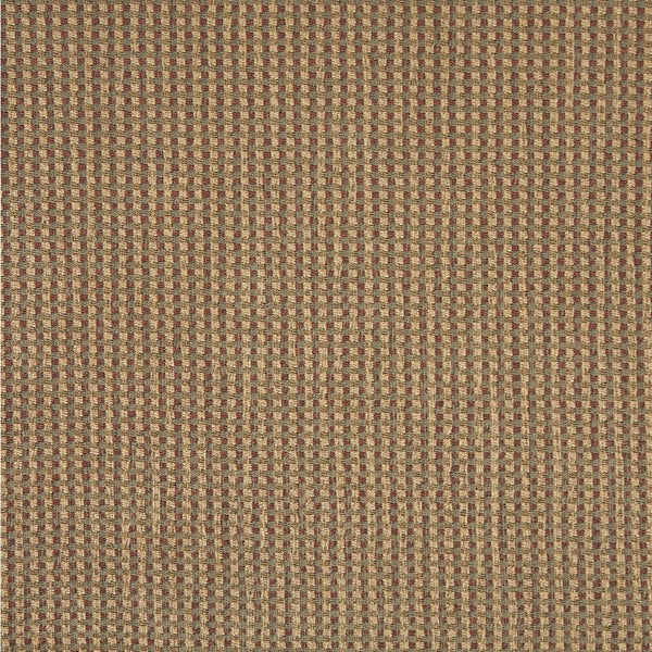 J741 Green Beige and Red Check Southwest Lodge Upholstery Fabric (By The Yard)