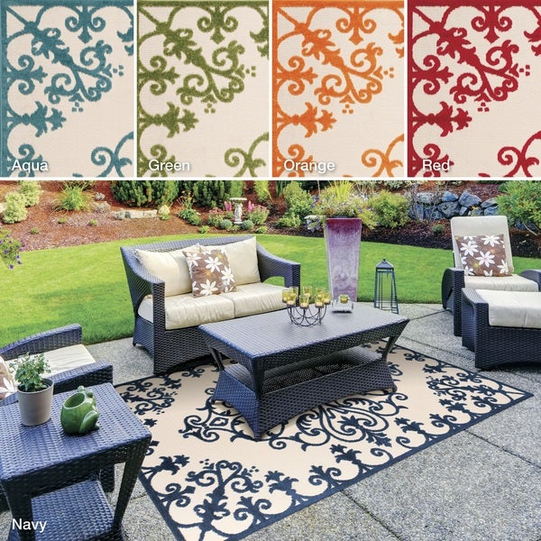 Nourison Aloha Indoor Outdoor Area Rug 3 6 x 5 6