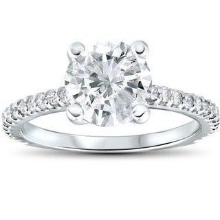 Bliss 14k White Gold 2.3 ct TDW Clarity Enhanced Diamond Engagement Wedding Ring (H-I, I1-I2)