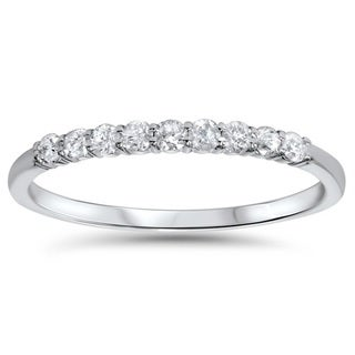 14k White Gold 0.25 ct TDW Gold Diamond Wedding Ring (H-I, I2-I3)