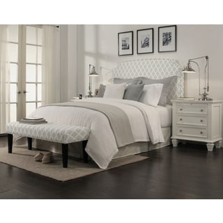 Grosvenor Gray Diamond Headboard-Bench Collection