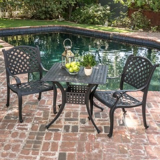 Christopher Knight Home Leandro Outdoor 3-piece Cast Aluminum Bistro Set