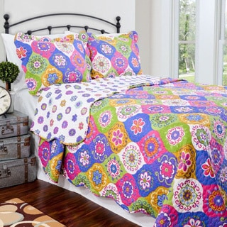 Slumber Shop Lena Multi Reversible 3-piece Quilt Set