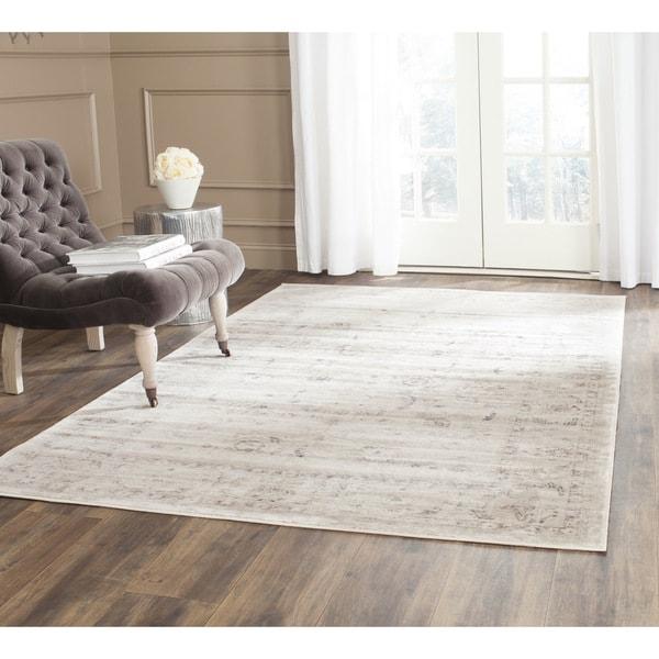 Safavieh vintage light grey ivory rug 8 39 x 11 for Happy floors valencia grey