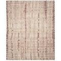 Safavieh Handmade Dip Dye Beige/ Maroon Wool Rug (8' x 10')