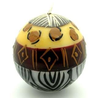 Hand-Painted Ball Candle - Uzima Design - Nobunto Candles (South Africa)