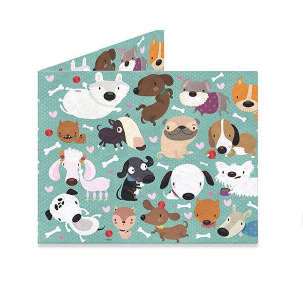 The Mighty Wallet Happy Dogs Tyvek Slim Wallet