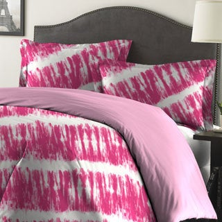 Tie-Dye Printed Reversible 3-piece Comforter Set