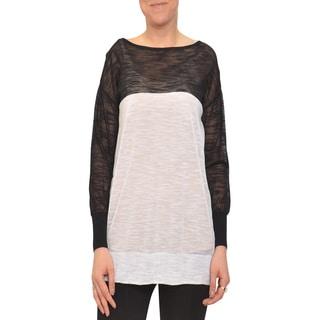 Bellario Women's Black and White Longsleeve Sweater