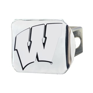 Fanmats Wisconsin Badgers Chrome Metal Collegiate Hitch Cover
