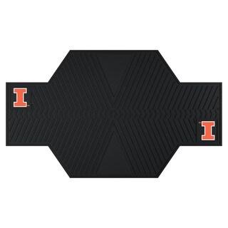 Fanmats Illinois Fighting Illini Black Rubber Motorcycle Mat