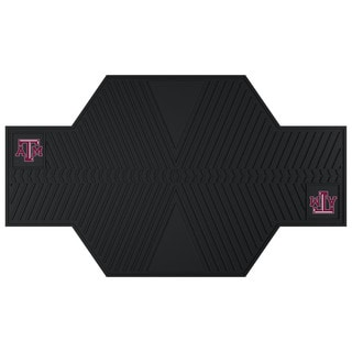 Fanmats Texas A&M Aggies Black Rubber Motorcycle Mat