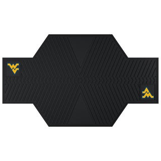 Fanmats West Virginia Mountaineers Black Rubber Motorcycle Mat
