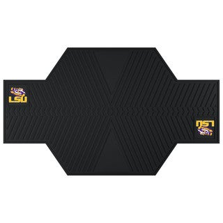 Fanmats LSU Tigers Black Rubber Motorcycle Mat
