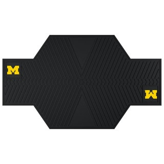 Fanmats Michigan Wolverines Black Rubber Motorcycle Mat