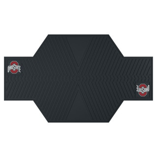Fanmats Ohio State Buckeyes Black Rubber Motorcycle Mat