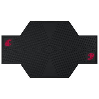 Fanmats Washington State Cougars Black Rubber Motorcycle Mat