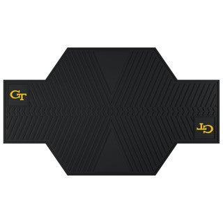 Fanmats Georgia Tech Yellow Jackets Black Rubber Motorcycle Mat
