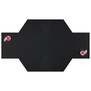 Fanmats Utah Utes Black Rubber Motorcycle Mat