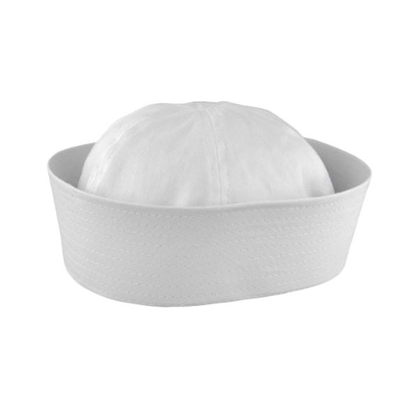 White Child Sailor Gob Hat