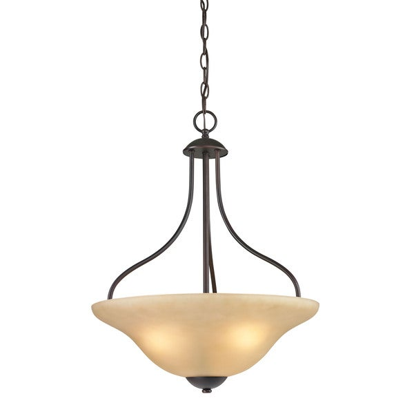 Cornerstone Conway 3 Light Large Pendant In Oil Rubbed Bronze