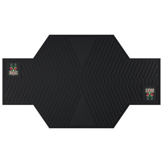 Fanmats Milwaukee Bucks Black Rubber Motorcycle Mat