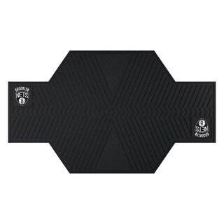 Fanmats Brooklyn Nets Black Rubber Motorcycle Mat