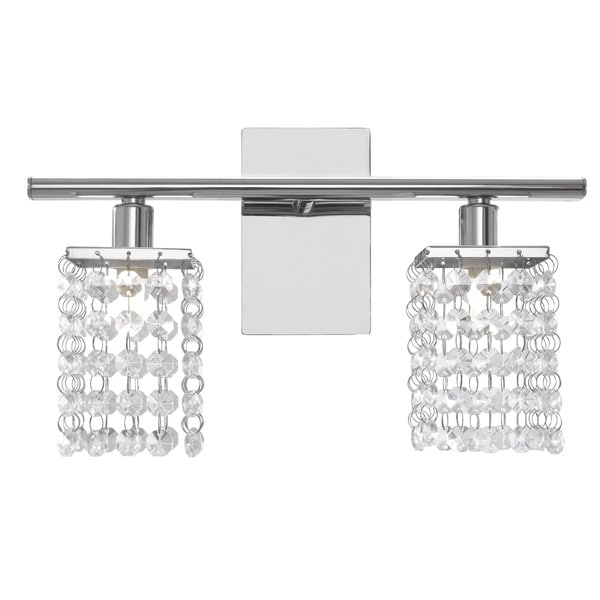Eglo Pyton Wall Light with Chrome Finish and Crystal Strands