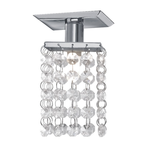Eglo Pyton Ceiling Light with Chrome Finish and Crystal Strands