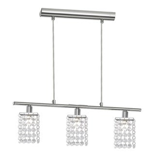 Eglo Pyton Multi Light Pendant with Chrome Finish and Crystal Strands