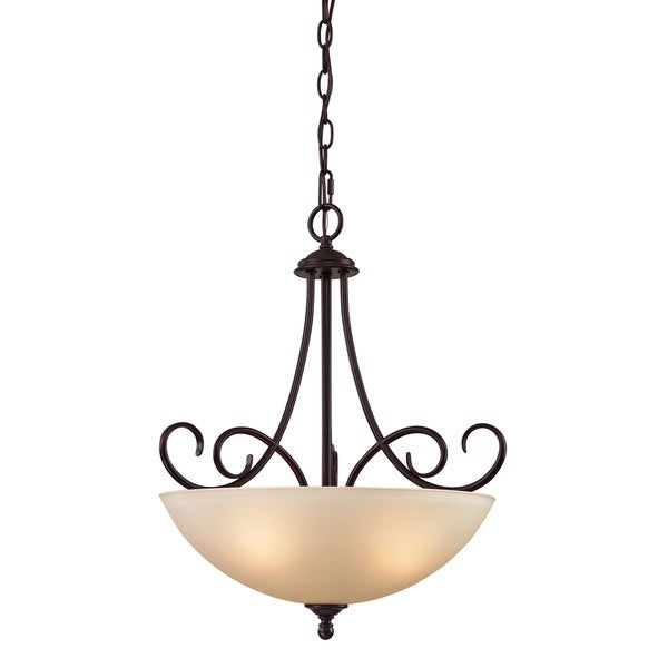 Cornerstone Chatham 3 Light Large Pendant In Oil Rubbed Bronze