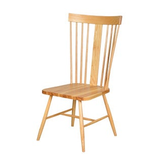 Aurelle Home Natural Solid American Ash Nordic Chair