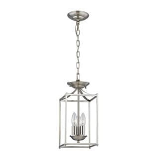 Cornerstone Foyer Collection 3 Light Pendant In Brushed Nickel